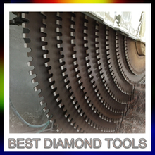 Granite Diamond Multi Block cutting Saw Blade With 5.5mm steel core 24x7.6/7.0x15/14mm Segment