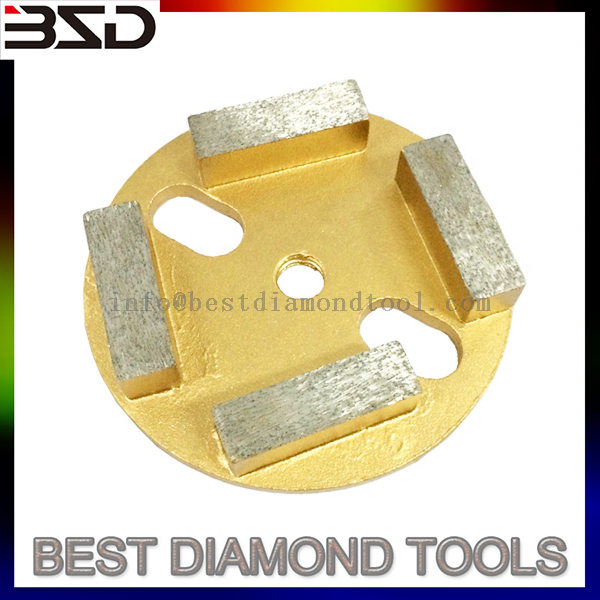 "4"" diamond grinding for concrete floors with 4 segments"