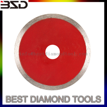Hot press diamond toothless circular saw blade for ceramics and tiles