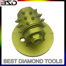 Bush hammer head for concrete round shape