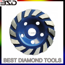 China supplier brand 9 inch concrete floor abrasive diamond grinding cup wheel