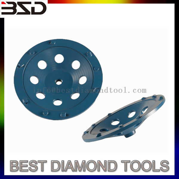 Concrete floor renovation PCD epoxy bond remover diamond grinding pads