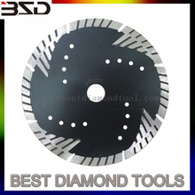 "7"" turbo diamond blades granite cutting tools diamond discs sintered Stone Concrete diamond saw blades for Granite"