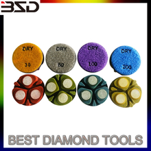 4 inch 100mm diamond polishing resin pads ceramic bond for marble granite
